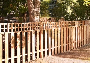 Boundary Fence with Custom Picket Design