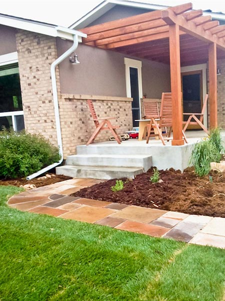 trellis and walkway construction