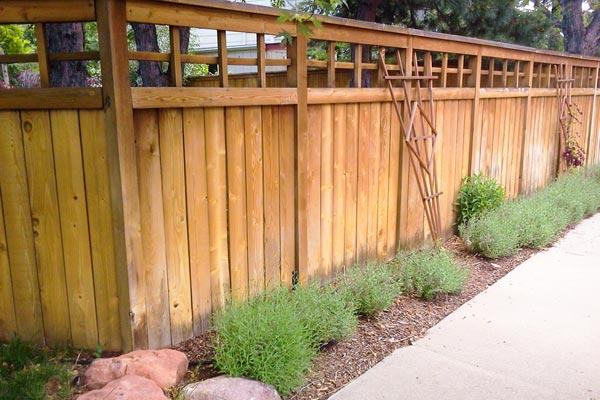 denver fence landscape