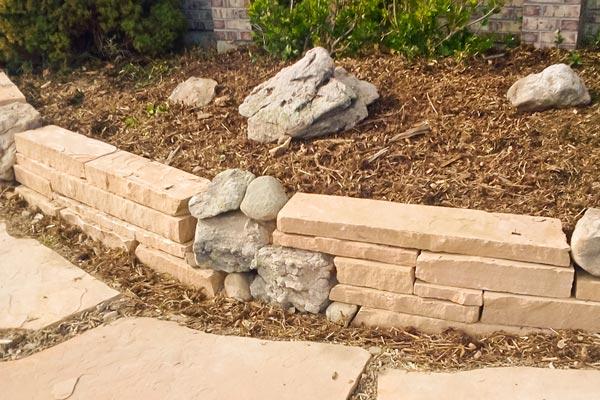 hardscape garden wall