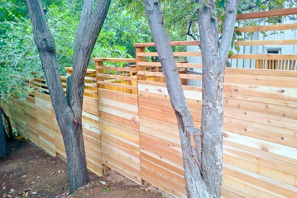 fence for sloping hill