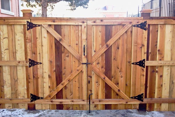 Gate for a Cedar Fence