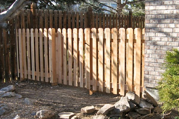 new fence matched to old