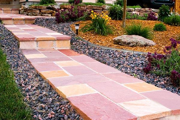 walkway flagstone pattern