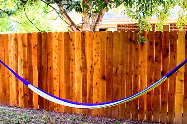 stained fence for wet look