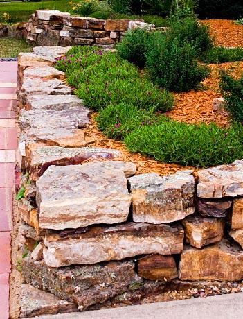 stone rock retaining wall