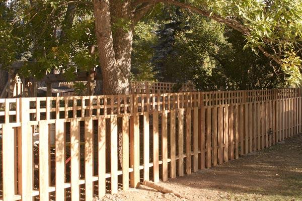 semi-private fence design