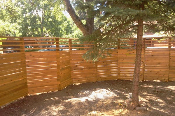 not straight fence, angled fence line